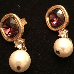Vintage Gerald Yosca Pierced Earrings